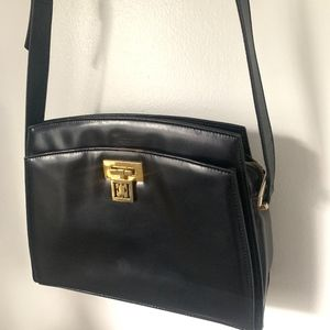 Escada Black Leather Sling-bag